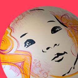 fresque murale maternité